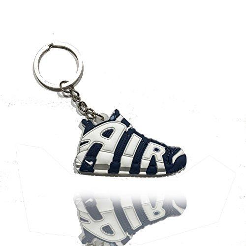 Sneaker Schlüsselanhänger Adi Yeezy New Balance Roshe Run uvm Schlüsselanhänger fashion für Sneakerheads,hypebeasts und alle Keyholder / ProProCo® (Air Uptempo Blau)