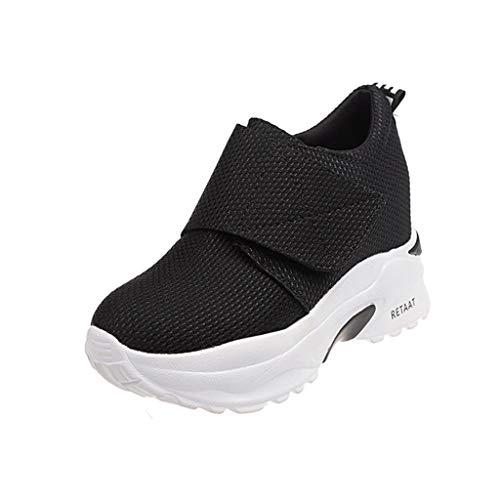 Femme Chaussures à Coussin d'air,Mounter Baskets Compensée Femme Chaussures Sport Montante Sneakers Mode A