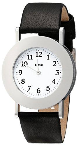 Alessi AL4000 - Reloj analógico unisex de cuero blanco