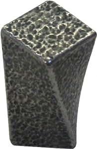 Bouton de porte et tiroir de meuble zamak noir etain 28x19mm, COTTAGE