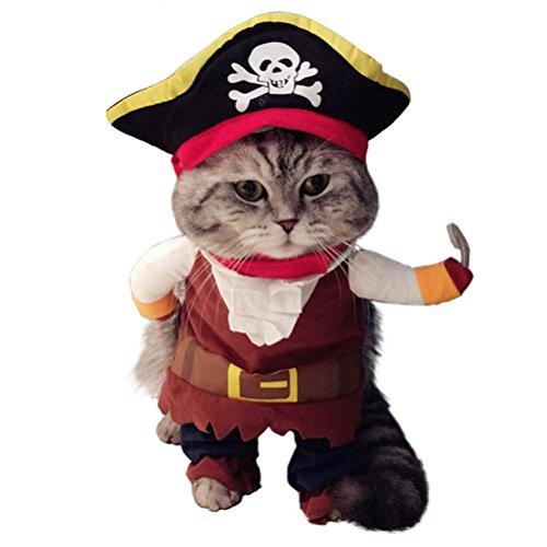 Disfraz de capitán pirata para gato, perro o...