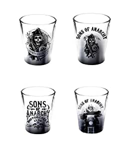 Sons Of Anarchy 4 Piece Verre à Liqueur Set
