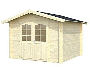 Palmako Blockbohlenhaus Lotta 7,3 28 mm natur