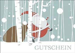 sch ner weihnachts gutschein als weihnachtskarte mit. Black Bedroom Furniture Sets. Home Design Ideas