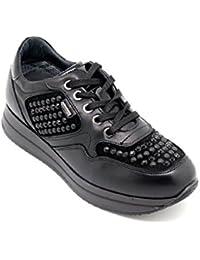 8698 NERO Scarpa uomo Igi&co sneaker pelle made in Italy HmmMTi
