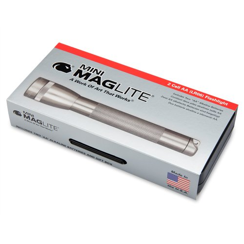 Mag-Lite M2A09L Mini Maglite AA Taschenlampe 14,5cm titan-grau in Box, inkl. 2 Mignon-Batterien - 2