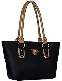 Fristo women's handbag (FRB-063) Black and Beige