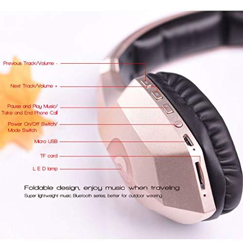 ALIKEEY Kabellose Kopfhörer Leichter Kopf S33, der drahtlosen Bluetooth mit eingebautem Mikrofon trägt Ohrhörer für iPhone, iPad, Samsung, Huawei, xiaomi und mehr - 3