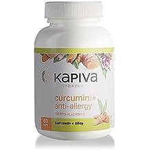 Kapiva Ayurveda 100% Organic 60 Veg Curcumin + Anti Allergy Capsules Fights Allergies