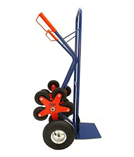 Sackkarre / Treppensackkarre 200Kg Stahl mit 5 Sternförmigen Zusatzrädern für Treppenaufgang - 3