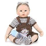StageOnline Simulation Puppe Reborn Baby Silikon Ganzkörper 21 Zoll Mädchen realistische Baby Puppe Kinder Geschenk