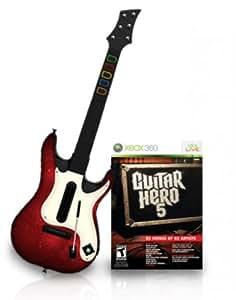 Guitar Hero 5 + guitare: Amazon.fr: Jeux vidéo