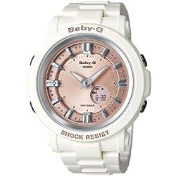 Casio Baby-G BGA-300-7A2ER - Reloj analógico - digital de cuarzo para mujer, correa de resina color blanco crema