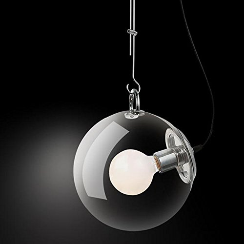 Osraed Modern Minimalist European Style Creative Bedroom Restaurant, Bar, Bar, Personal Lamp, Soap Chandelier,250Mm- In Diameter, Containing 1 G80 Milk Dragon Balls