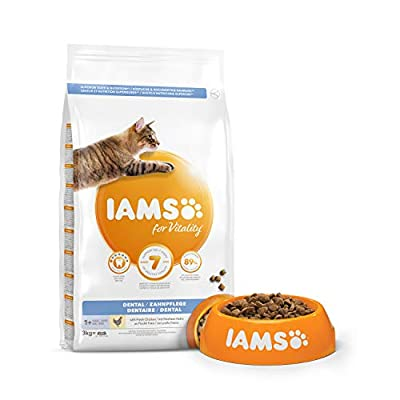 Iams for Vitality Cat Food for Dental Care with Fresh Chicken