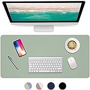Dual Sided Desk Pad, 2020 Upgrade Sewing PU Leather Office Desk Mat, Waterproof Desk Blotter Protector, Desk W