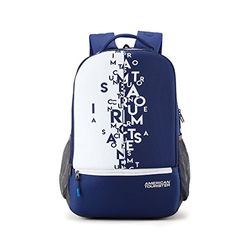 American Tourister 32 Ltrs Blue Casual Backpack (AMT Fizz SCH Bag 02 - Blue)