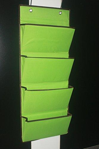 microtimes Wandhalterung/über der Tür Oxford Stoff klappbar Datei Organizer zum Aufhängen Ordner Dokument Tasche Magazin Lagerung grün