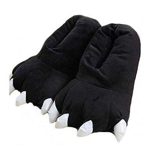 Lindas Pantuflas, Zapatillas de algodón Antideslizantes para el hogar (EUR 40-44, Negro)