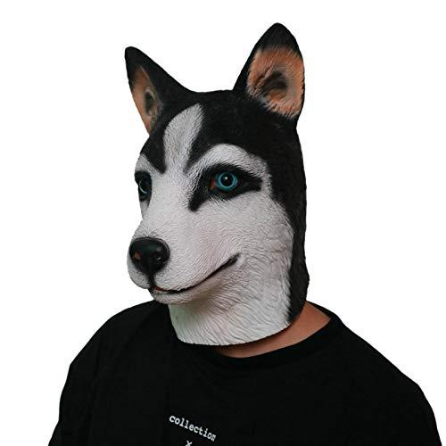 SonMo Latex Halloween Mask Halloween Maske Hund Kostüm Maske Hund Gummi Maske Lustig Unisex Einheitsgröße für Halloween