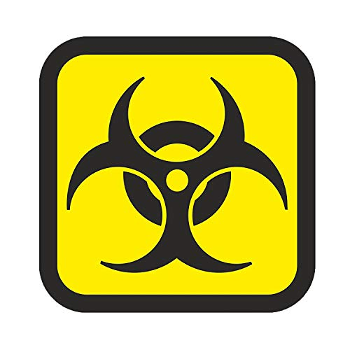 easydruck24de 1 Aufkleber Biohazard I kfz_213 I 10 x 10 cm groß I Warnung vor Biogefährdung I Sticker Warnaufkleber Gefahren-Symbol I schwarz gelb