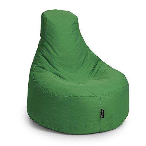 BuBiBag Gamer Kissen Lounge Sitzsack Sessel original Sitzkissen In & Outdoor geeignet fertig...