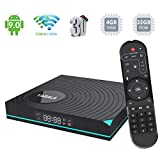 Android TV BOX,Y1 Android 9.0 TV BOX 4GB RAM/32GB ROM RK3318 Quad-Core Supporto 2.4/5.0Ghz WiFi 4K HDMI DLNA 3D Smart TV BOX