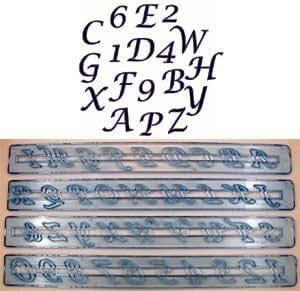 FMM Alphabet in Großbuchstaben Script &Number Tappit Ausstecher Set, Garten, Rasen, Instandhaltung