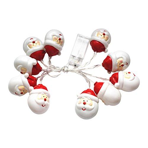 LEDMOMO Outdoor-String Lights, 10LED Lichterketten, batteriebetriebenen Sternenhimmel Fairy Snowman Alter Mann Lichterketten für Weihnachten Halloween Schlafzimmer, Garten, Party Dekoration (Alten Halloween Mann)