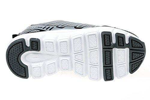 GIBRA® Kinder Sportschuhe, mit Klettverschluss, schwarz/silber, Gr. 25-36 Schwarz/Silber