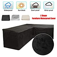 dDanke 2.5x1.5x1m Outdoor L Shaped Rattan Corner Sofa Weather Cover Garden Patio Sofa Furniture Couch Cover