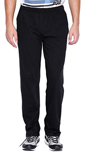 Gallop Men's Cotton Track Pant (track-black--L, Black, Large)