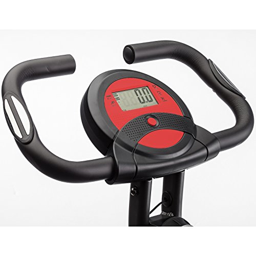 Skandika Foldaway X 1000 Exercise Bike Home Trainer with Hand Pulse Sensors