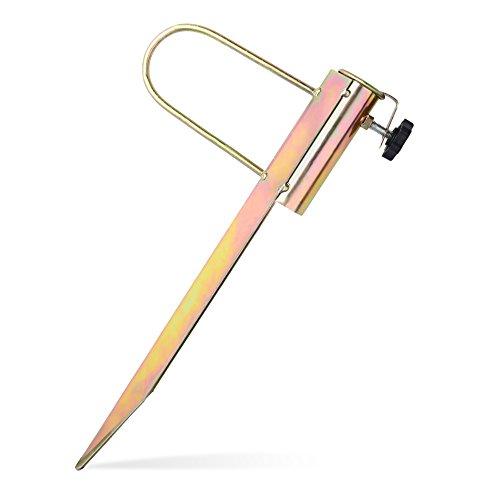 f210b69c03f7 HOGAR AMO Ground Spike For Umbrella Parasol Flag Pole, Metal Umbrella  Holder Ground Soil Spike with Adaptor to Fit 28-32mm Diameter