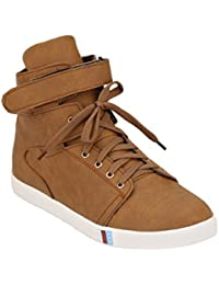 Imcolus Synthetic Leather Partywear Designer Branded Layasa Casual Shoes For Men And Boys Tan Color