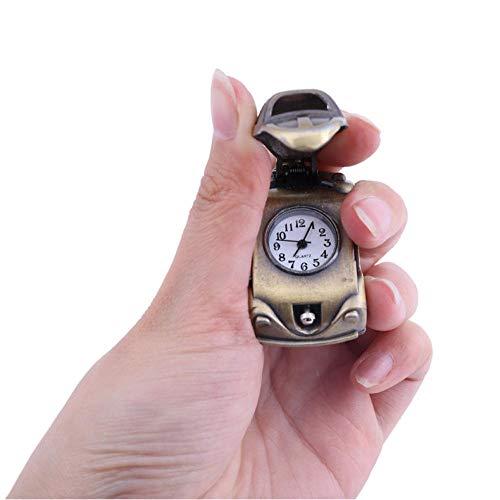 Personalidad Reloj de bolsillo de cuarzo vintage Reloj de bolsillo clásico de bronce para hombre reloj de collar de regalo para mujer Reloj de hombre viejo
