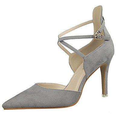 Moda Donna Sandali Sexy Donna Stivali Autunno / Inverno Comfort in pelle / outdoor casual tacco piatto Lace-up gray