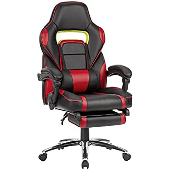 langria high back racing style faux leather executive computer gaming office chair well padded. Black Bedroom Furniture Sets. Home Design Ideas
