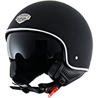 Astone Helmets MINI66-MBKM Casco Jet, Color Negro Mate, Talla M