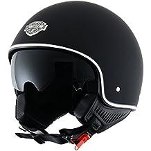 Astone Helmets Casco Jet, color Negro (Matt Negro), talla L