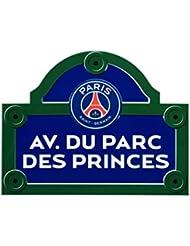 PSG Avenue du Parc des Princes Plaque de Rue Rectangulaire Metal Multicolore 30 x 18 x 0,5 cm