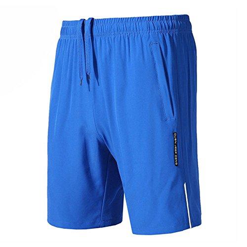 Bmeigo Pantaloncini Atletica da Uomo Estate Asciugatura Veloce Casual Leggeri Shorts per Palestra Correre Allenamento Pantaloni Corti con Tasche Zip
