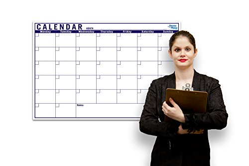 Blank Monthly Dry Erase Rollable Whiteboard - Monthly Planner