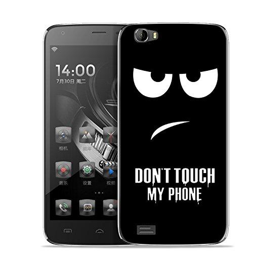 Yrlehoo Für Doogee T6 / T6 Pro 5,5 Zoll, Premium Softe Silikon Schutzhülle für Doogee T6 / T6 Pro 5,5 Zoll Tasche Case Cover Hülle Etui Schutz Protect, Donot Touch My Phone