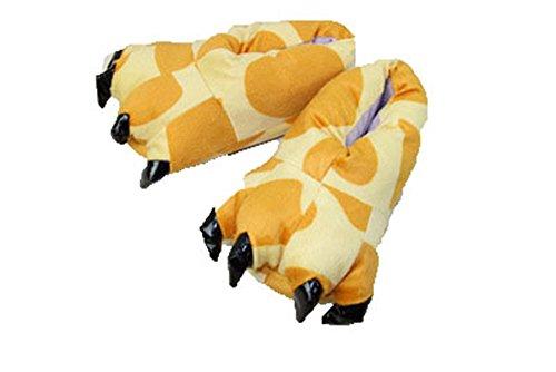 Giraffe Womens Kostüme (hippolo fashionfits Unisex Weich Plüsch Home Hausschuhe Tier Kostüm Paw Claw Schuhe giraffe)
