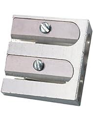 Herlitz Doppelanspitzer aus Metall für 2 Stiftdurchmesser, Aluminium