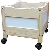 Preisvergleich für Holz Spielzeugkiste auf Rollen, Aufbewahrungs Kiste für Kinderzimmer, Naturholz aus nachhaltiger Waldwirtschaft ohne Schadstoffe, direkt vom deutschen Hersteller
