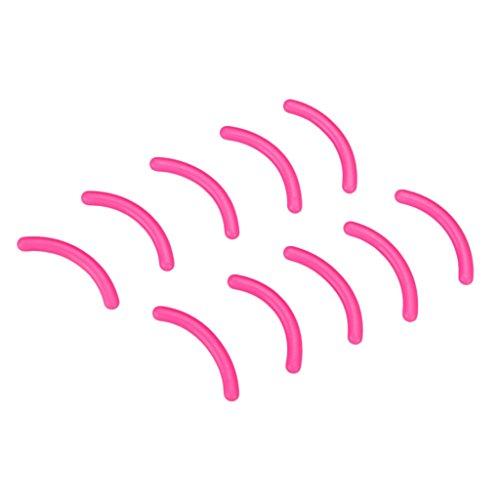 Homyl 10 Stück Damen Ersatzgummi Ersatzpolster Wimpernzange Wimpernformer Pads, Bunt - Rosa