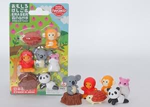 Iwako Japanese Kawaii Animal Eraser Set Enfants, enfants, jeux, jouets, jeux