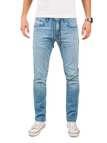 Yazubi Jogpants Herren Sweathose in Jeansoptik Erik - Jogginghose Jeans - Blaue Jeanshose - Slim-Fit Denim Jogger, Blau (Blue Shadow 174020), W36/L32